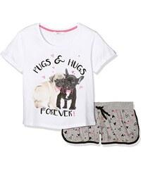New Look Mädchen Zweiteiliger Schlafanzug Pugs and Hugs