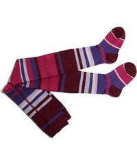 pruhované punčocháče Andi - fialové, Trepon