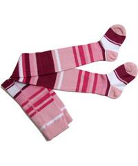 pruhované punčocháče Andi - růžové, Trepon