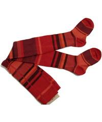 pruhované punčocháče Andi - červené, Trepon