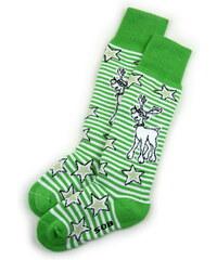 dětské termo ponožky SOB - zelené, LASTING