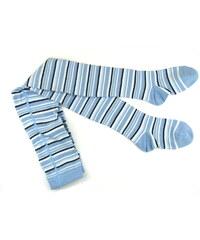 pruhované punčocháče Geti - sv. modré, Trepon