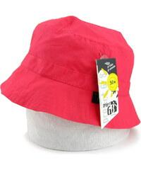 bavlněný klobouček UV50+, Pure colour - červený, Sterntaler