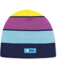 tenká pletená čepice B57 - tm. modrá, KAMA