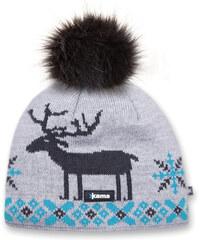 pletená zimní čepice A51 - šedá, KAMA