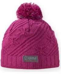 dětská pletená čepice B65 - růžová, KAMA