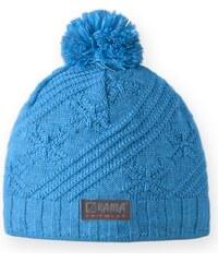 dětská pletená čepice B65 - tyrkysová, KAMA