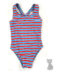 dětské jednodílné plavky Pruhy - tyrkysové, RAMI