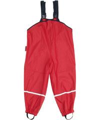 dětské nepromokavé kalhoty s fleece podšívkou-červené, Playshoes