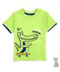 dětské bavlněné tričko CROCO - zelené, COONOOR