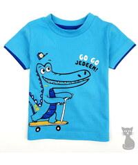 dětské bavlněné tričko CROCO - tyrkysové, COONOOR