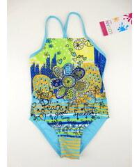 Dětské plavky - jednodílné Fucsia - modré, LOSAN