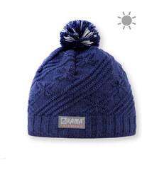 dětská pletená čepice B65 - tmavě modrá, KAMA