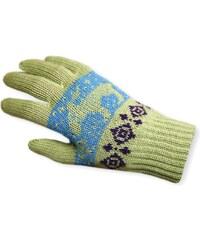 dětská pletená rukavice RB08 - zelené, KAMA