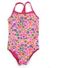 dětské jednodílné plavky Puntíky - růžové, RAMI