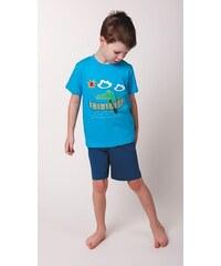 dětské bavlněné pyžamo Krokodýl - tyrkysové, CALVI