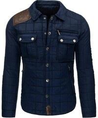Moderní zateplená pánská tmavě modrá bunda
