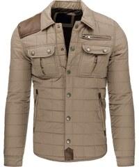 Trendy zimní béžová bunda s kapsami