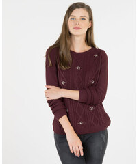 Pimkie Pullover mit Zopfmuster und Schmuck