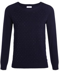 Pull maille chinée studs Bleu Nylon - Femme Taille 1 - Cache Cache