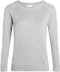 Pull maille chinée studs Gris Nylon - Femme Taille 1 - Cache Cache