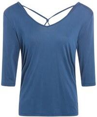 T-shirt fluide plis dos Bleu Polyester - Femme Taille 0 - Cache Cache