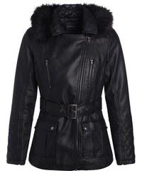 Veste saharienne col fourrure Noir Polyester - Femme Taille 1 - Cache Cache