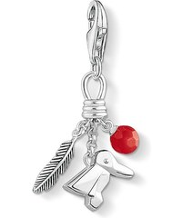 Thomas Sabo pendentif Charm ´´oiseau, plume, baie´´ rouge 1331-908-10