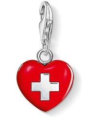 Thomas Sabo Charm Herz Schweiz rot 0894-007-10