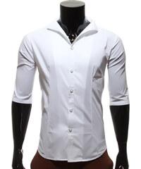 Re-Verse Hemd mit Kelchkragen - Weiß - S