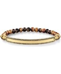 Thomas Sabo bracelet ´´tête de mort or´´ marron LBA0086-887-2-L20