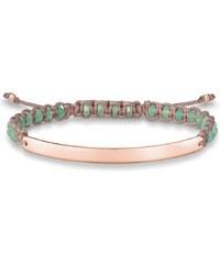 Thomas Sabo bracelet ´´rose´´ vert LBA0054-891-6-L21v