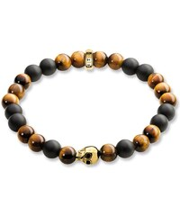 Thomas Sabo bracelet ´´tête de mort or´´ marron A1509-881-2-L20