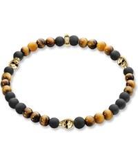Thomas Sabo bracelet ´´tête de mort or´´ marron A1507-881-2-L20