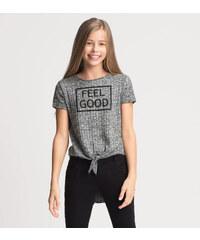 C&A Kurzärmeliger Pullover in Grau