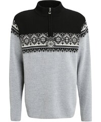 Dale of Norway ST. MORITZ Strickpullover metal grey/schiefer/black/off white