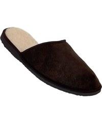 Pánské domácí pantofle Pegres 1111 hnědá