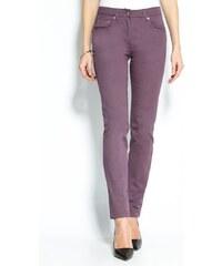 Venca Keprové pružné kalhoty fialová