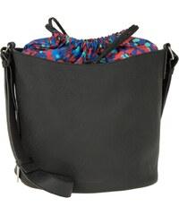 Jil Sander Navy Sacs à Bandoulière, Bucket Bag Synthetic Saffiano Black en noir