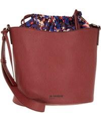 Jil Sander Navy Sacs à Bandoulière, Bucket Bag Synthetic Saffiano Carmine en rouge