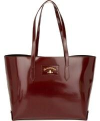 Vivienne Westwood Sacs à Bandoulière, Newcastle Shopper Pelle Bordeaux en rouge, noir