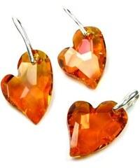 Šperky LAFIRA Style Stříbrný set Devoted 2 U Heart srdce Swarovski Elements 383