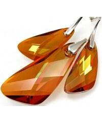 Šperky LAFIRA Style WING stříbrná sada Astral Pink Swarovski Elements