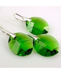 Šperky LAFIRA Style PURE LEAF stříbrná sada Fern Green Swarovski Elements