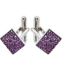 Šperky LAFIRA Style Manžetové knoflíky Swarovski Amethyst 12 mm