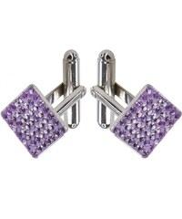 Šperky LAFIRA Style Manžetové knoflíky Swarovski Violet 12 mm