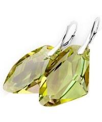 Šperky LAFIRA Style Stříbrné náušnice Galactic Luminous Green Swarovski Elements 737