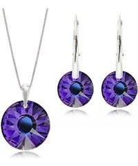 Šperky LAFIRA Style Stříbrná sada Sun Heliotrope Swarovski Elements 746