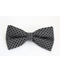 Šperky LAFIRA Style Pánský černý motýlek s bílými kroužky 865