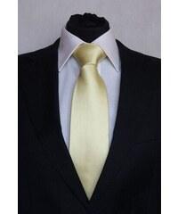 Šperky LAFIRA Style Pánská světle žlutá klasická kravata 901